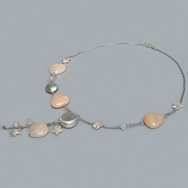 Freshwater Pearl Necklace by IPEARL with Star Pearls & Aventurine (TRN-10088)
