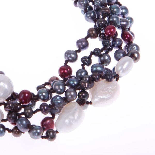 Freshwater Pearl Bracelet by IPEARL with Rice, Baroque & Off-Round Pearls (TRB-10543)