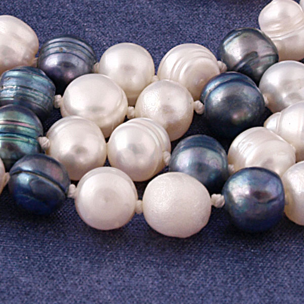 64 Inch Freshwater Pearl Necklace by IPEARL with 7-8mm Multicolor Round Pearls (TRN-2614B)