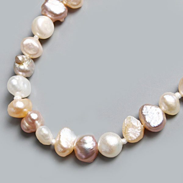 64 Inch Freshwater Pearl Necklace by IPEARL with 4-5mm Multicolor Teardrop Pearls (TRN-2850)