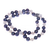 Freshwater Pearl Bracelet by IPEARL with 7-8mm Multicolor Round Pearls,  Silver Clasp