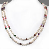 64 Inch Freshwater Pearl Necklace by IPEARL with 6-7mm Round Pearls