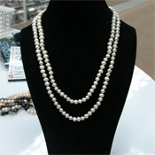 Freshwater Pearl Necklace by IPEARL with White Rice Pearls